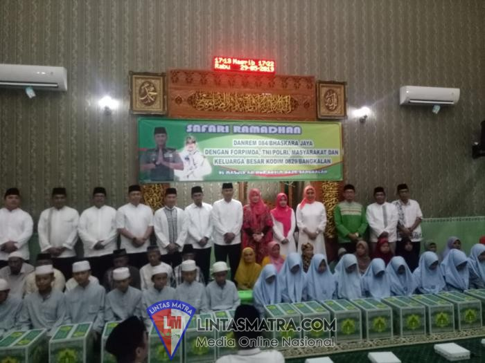 Safari Ramadhan di Bangkalan, Danrem Bhaskara Jaya Imbau Seluruh Pihak Untuk Saling Bersinergi