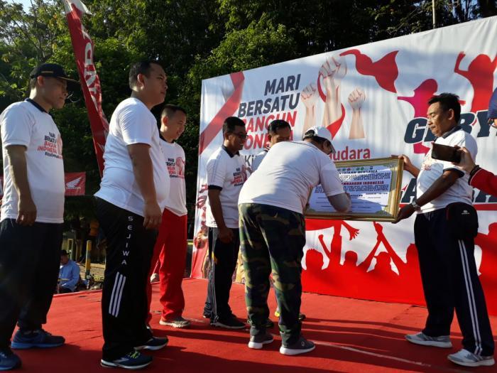 HUT Bhayangkara Ke 73, Forkopimda Bangkalan Olahraga Bareng
