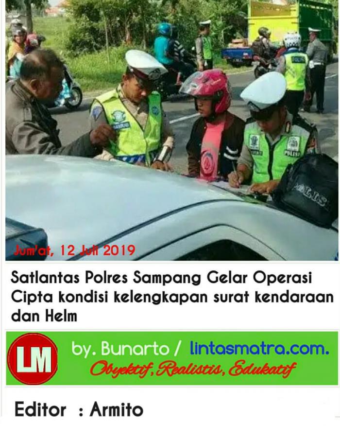 Operasi Cipkon Satlantas Polres Sampang Tilang Puluhan Surat Kendaraan