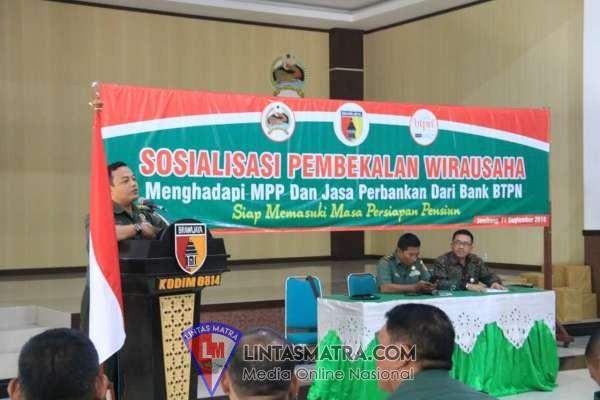 SOSIALISASI MASA PERSIAPAN PENSIUN MPP KODIM 0814 JOMBANG