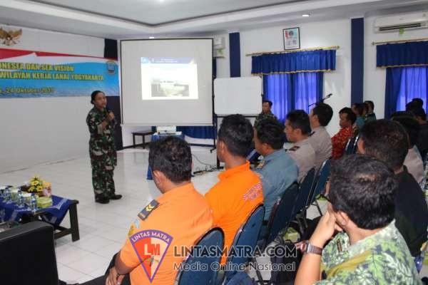 Lanal Yogyakarta Fasilitasi Sosialisasi Aplikasi Kelautan Pushidrosal kepada Masyarakat Maritim