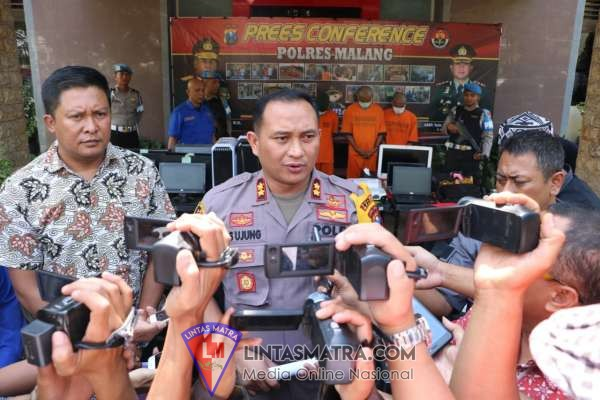 Satreskrim Polres Malang Bekuk Kawanan Pencuri Spesialis Gedung Sekolah