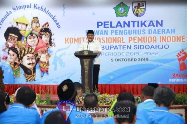 Usai Dilantik, Ketua DPD KNPI Ridho Prasetyo Ajak Pemuda Bersatu Membangun Sidoarjo