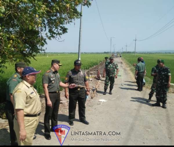 Dandim 0816 Sidoarjo Tinjau Lokasi TMMD 106 Desa Kupang