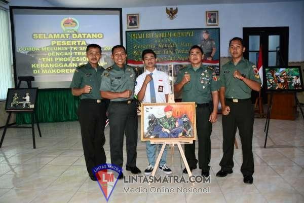 HUT TNI KE-74, KOREM 082/CPYJ BUKA LOMBA LUKIS ANTAR PELAJAR