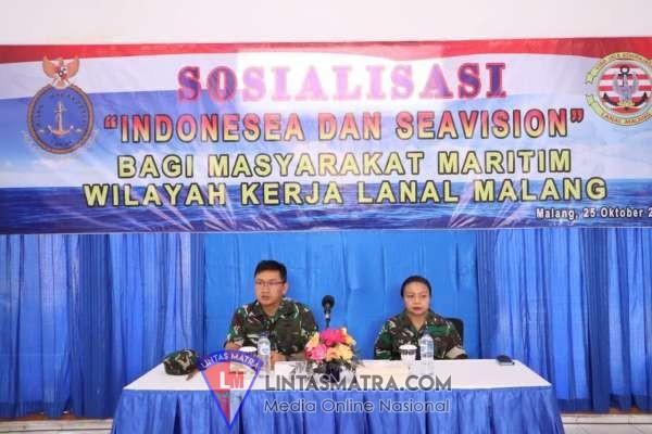 Lanal Malang Terima Tim Sosialisasi Sistem Indonesia dan Sea Vision Pushidrosal