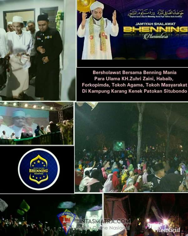 Peringatan Maulid Nabi Muhammad SAW. Bersama  Jamiyah Sholawat Bhenning Mania Nusantara di Kampung Karang Kenek Patokan Situbondo
