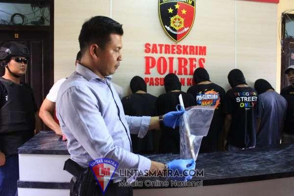 Korban Meninggal,6 Pelaku Pengeroyokan Di Ringkus Tim Resmob Suropati Polresta Pasuruan