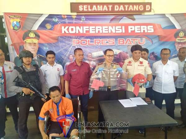 Tak Jadi Pulang Kampung, Residivis Pecah Kaca Mobil Berhasil Di Bekuk Satreskrim Polres Batu