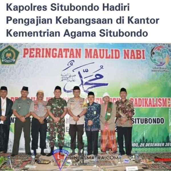 Kantor Kementrian Agama Situbondo Gelar Peringatan Maulid Nabi Muhammad, SAW. dan Pengajian Kebangsaan Menagkal Radikalisme
