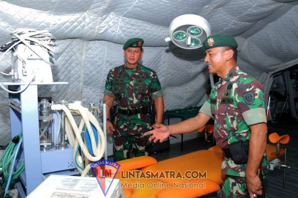Danbrigif Raider 9/Divif 2 Kostrad Menerima Kunjungan Pamen Divif 2 Kostrad