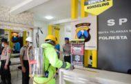 Tangkal Corona, Ruang Pelayanan Masyarakat di Mapolresta Sidoarjo Disemprot Disinfektan