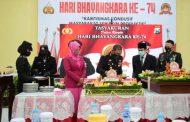 Polresta Sidoarjo Bersama Forkopimda Ikuti Upacara Hari Bhayangkara Ke-74 Secara Virtual