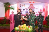Pangdivif 2 Kostrad Hadiri Acara Tasyakuran HUT Bhayangkara Ke-74 di Koramil 0824/28 Pakusari Jember
