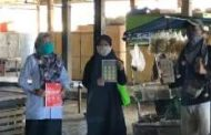 Gandeng Perangkat Desa Kemantren, Mahasiswa PMM.UMM Sosialisasi Keamanan Berjualan di Pasar sesuai Protokol Kesehatan.