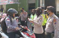 Puluhan Pengendara di Waru Terjaring Tidak Pakai Masker