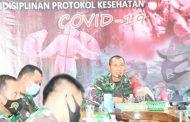 Danrem 083/Baladhika Jaya pimpin vicon Penanganan Covid 19 di Jajarannya