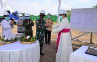 Komandan Lantamal V Resmikan Dimulainya Pembangunan Gereja Katolik Santo Yosafat, Semolowaru