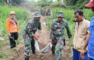 TNI ajak masyarakat Buat Jalan sementara