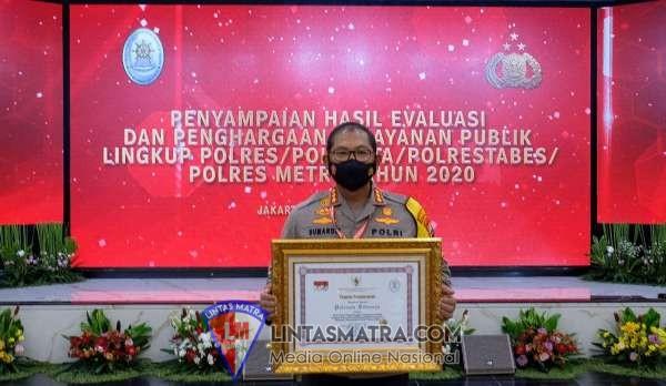 Polresta Sidoarjo Raih Penghargaan Pelayanan Prima dari Kementrian PANRB