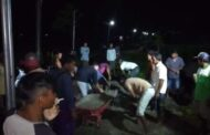 Warga Songon Desa Pondojoyo Kecamatan Semboro Grebek  Jalan Berlobang