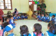 Anak-Anak di Perbatasan RI-PNG Makin Dekat dengan Satgas 512/QY