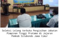 Seleksi Lelang Terbuka Pengisian Jabatan Pimpinan Tinggi Pratama digelar Pemkab Situbondo