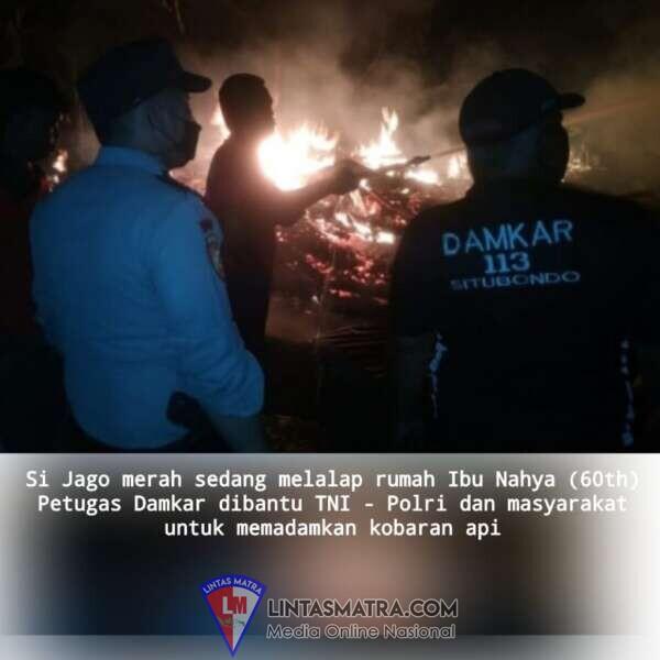 Si jago merah melalap Rumah Ibu Nahya Warga Desa Kukusan Kendit Situbondo