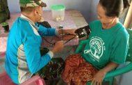 Rumah Direhap Satgas TMMD, Ibu Misnari Juga Memperoleh Pelayanan Kesehatan