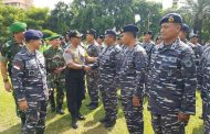 Danlanal Semarang Hadiri Apel  Gelar Pasukan Pengamanan Pemilu 2019