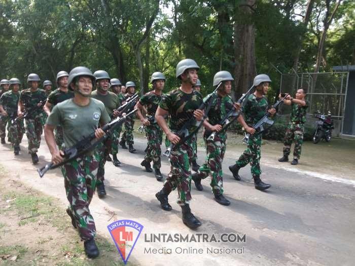 Prajurit Lanal Batuporon Bina Ketahanan Fisik Siapkan Pengamanan Pemilu 2019