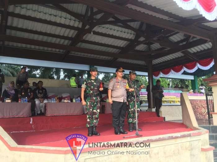 Komandan Lanal Batuporon Hadiri Apel Pergeseran Pasukan Dalam Rangka Pam  TPS Pilpres dan Pileg  2019