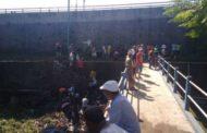 Bersama Masyarakat Dinas UPT-PSDA Propinsi Jawa Timur Adakan Kerja Bakti Bersih-bersih Kali