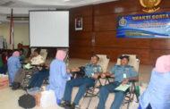 Peduli Sesama, Personel AAL Donorkan Darah Diperayaan Natal Gabungan TNI AL