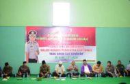 Cangkrukan Kamtibmas di Kecamatan Balongbendo, Waka Polresta Sidoarjo Ajak Warga Sukseskan Pilkades