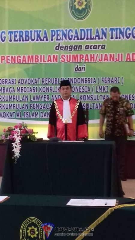 Angkatan ke 3, Lagi - Lagi Advokat LMKI Ikuti Sumpah di Pengadilan Tinggi