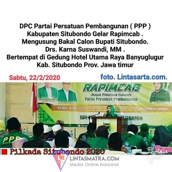 DPC PARTAI PPP GELAR RAPAT PIMPINAN CABANG USUNG BACABUP SITUBONDO