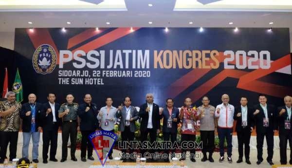 Kapolresta Sidoarjo Hadiri Pembukaan Kongres PSSI Jatim 2020
