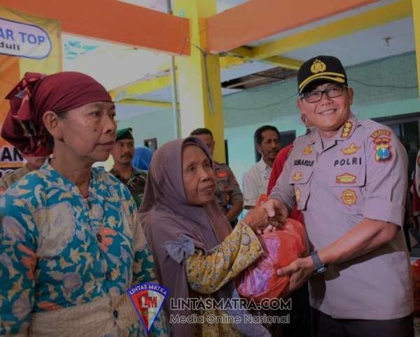 Kepedulian Kapolresta Sidoarjo Bersama PT Siantar Top Kepada Korban Banjir Tanggulangin