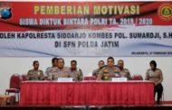 Kapolresta Sidoarjo Beri Motivasi kepada 685 Siswa Diktuk Bintara Polri TA. 2019/2020