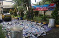 Kapolres Malang Pimpin Langsung Pemusnahan Barang Bukti Miras Jelang Liga 1 2020