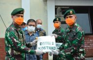 Pangdivif 2 Kostrad Menerima Bantuan Alat Pelindung Diri (APD) dari PT. Kasih Karunia Sejati Malang