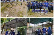 Perangi Penyebaran Korona Partai NasDem Bersama Karang Taruna Semprot Disinfektan di Perum TAS 3 Wonoayu