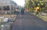 Warga Berterimakasih Jalan LKMD 1 di Hotmix 180 Meter