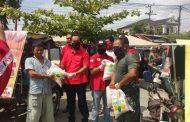 PDIP Cegah Covid 19 Bagikan 1000 masker dan beberapa Ton beras ke Masyarakat