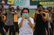 Forkopimda Sidoarjo Olahraga Bersama di Lapangan Kodim 0816
