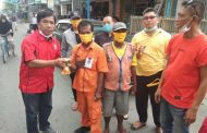 Aliansi Masyarakat Tebing Tinggi bagikan ratusan  masker untuk Cegah Covid 19