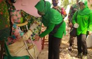 Persit Kodim Surabaya Utara Salurkan Bansos