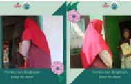 Pembagian Bingkisan Secara Door To Door Kepada Warga Kurang Mampu di Desa Oro – Oro Ombo Kabupaten Lumajang Oleh Kelompok 6 PMM UMM Gelombang