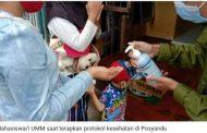 Mahasiswa UMM Terapkan Protokol Kesehatan Mulai dari Posyandu